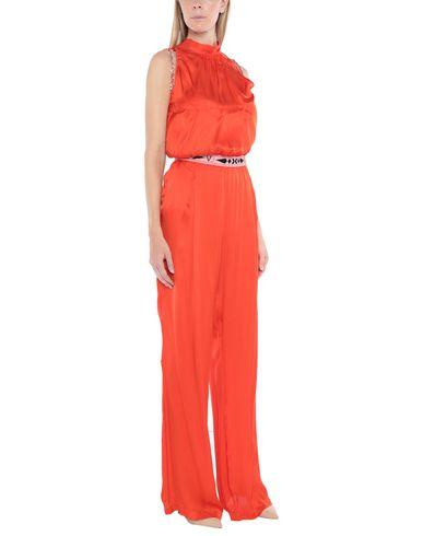 Versace Jeans | Красный; Бирюзовый; Черный Женские красные комбинезоны без бретелей VERSACE JEANS атлас | Clouty