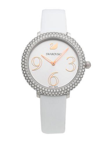 Swarovski | Белый Женские белые наручные часы SWAROVSKI материал корпуса: нержавеющая сталь | Clouty