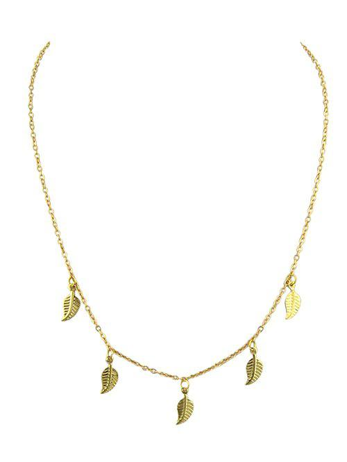 Zaful | GOLD Leaves Design Alloy Chain Necklace | Clouty