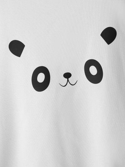 Zaful | WHITE Panda Graphic Cute Sweatshirt | Clouty
