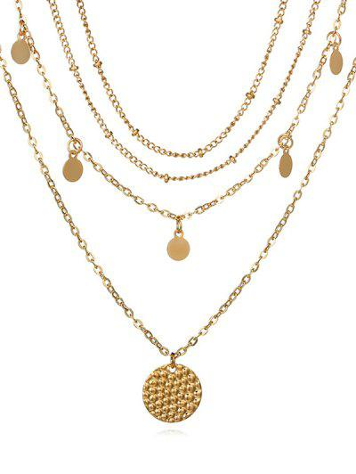 Zaful | GOLD Layered Disc Chain Necklace | Clouty
