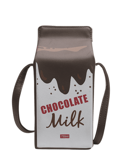 Zaful | COFFEE Letter Graphic Milk Box Crossbody Bag | Clouty