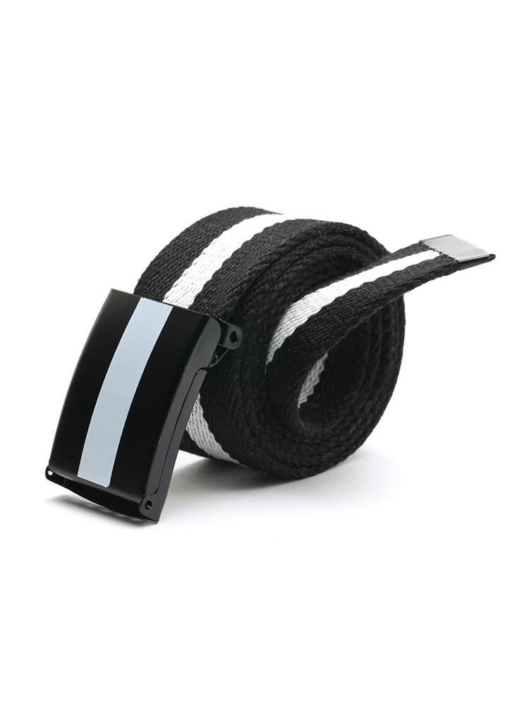 Zaful | BLACK Color Block Canvas Belt | Clouty