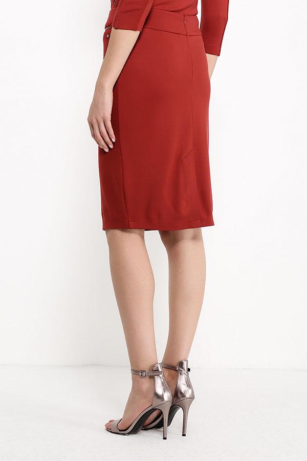Finn Flare | коричнево-красный Юбка женская | Clouty