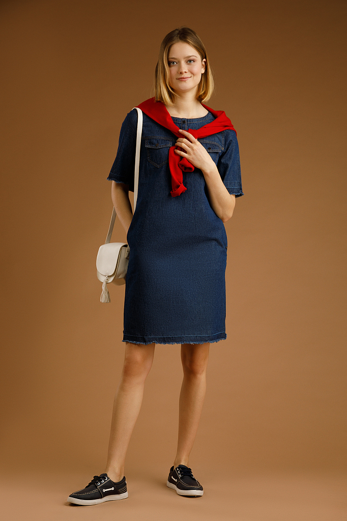 Finn Flare | темно-синий Платье женское | Clouty