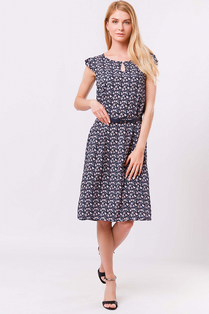 Finn Flare   темно-синий Платье женское   Clouty