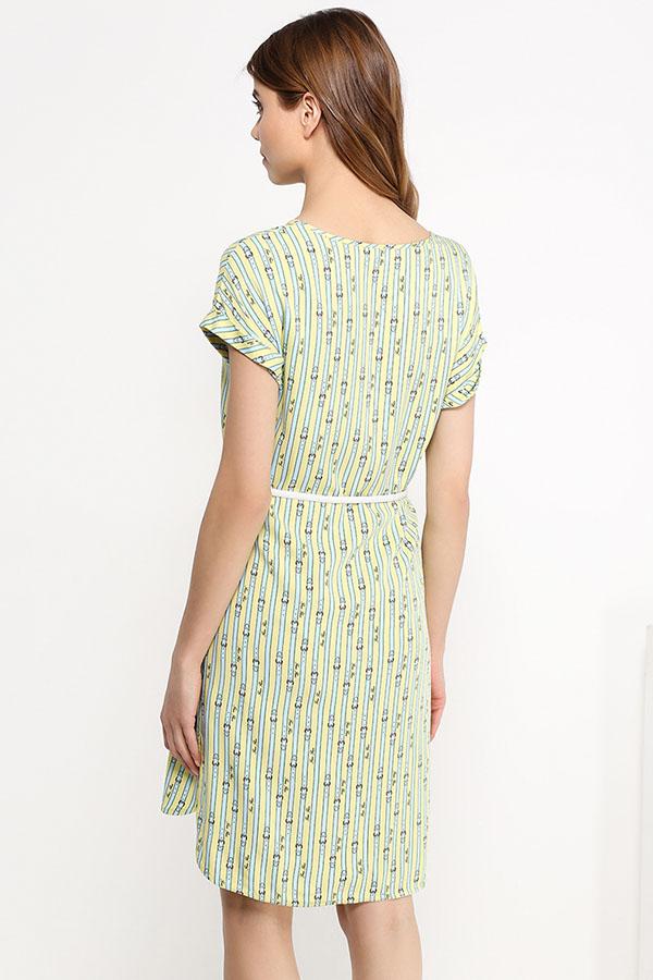 Finn Flare   светлый лимонный Платье женское   Clouty