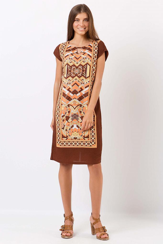 Finn Flare | коричневый Платье женское | Clouty