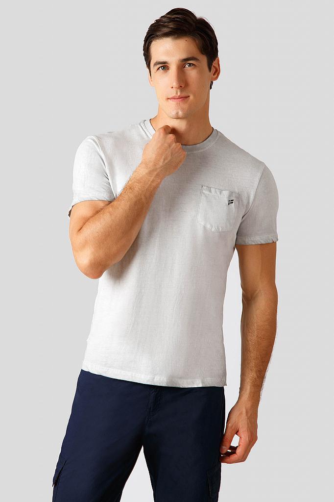 Finn Flare | light gray melange Футболка мужская | Clouty
