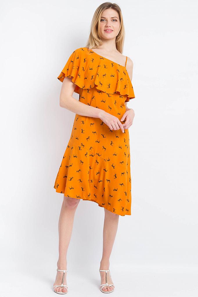 Finn Flare | жгучий оранжевый Платье женское | Clouty