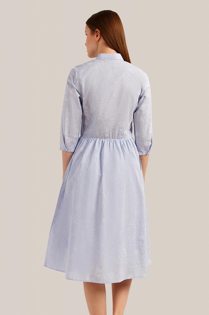 Finn Flare   голубой Платье женское   Clouty
