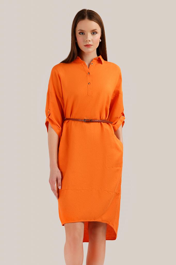 Finn Flare   оранжевый Платье женское   Clouty