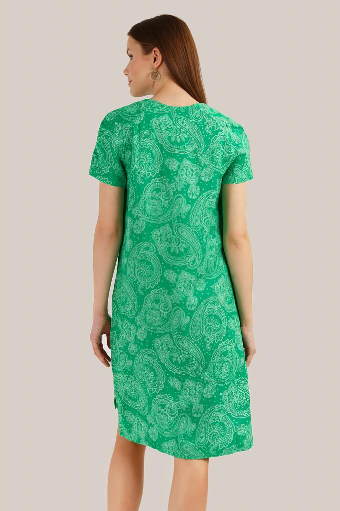 Finn Flare   green Платье женское   Clouty
