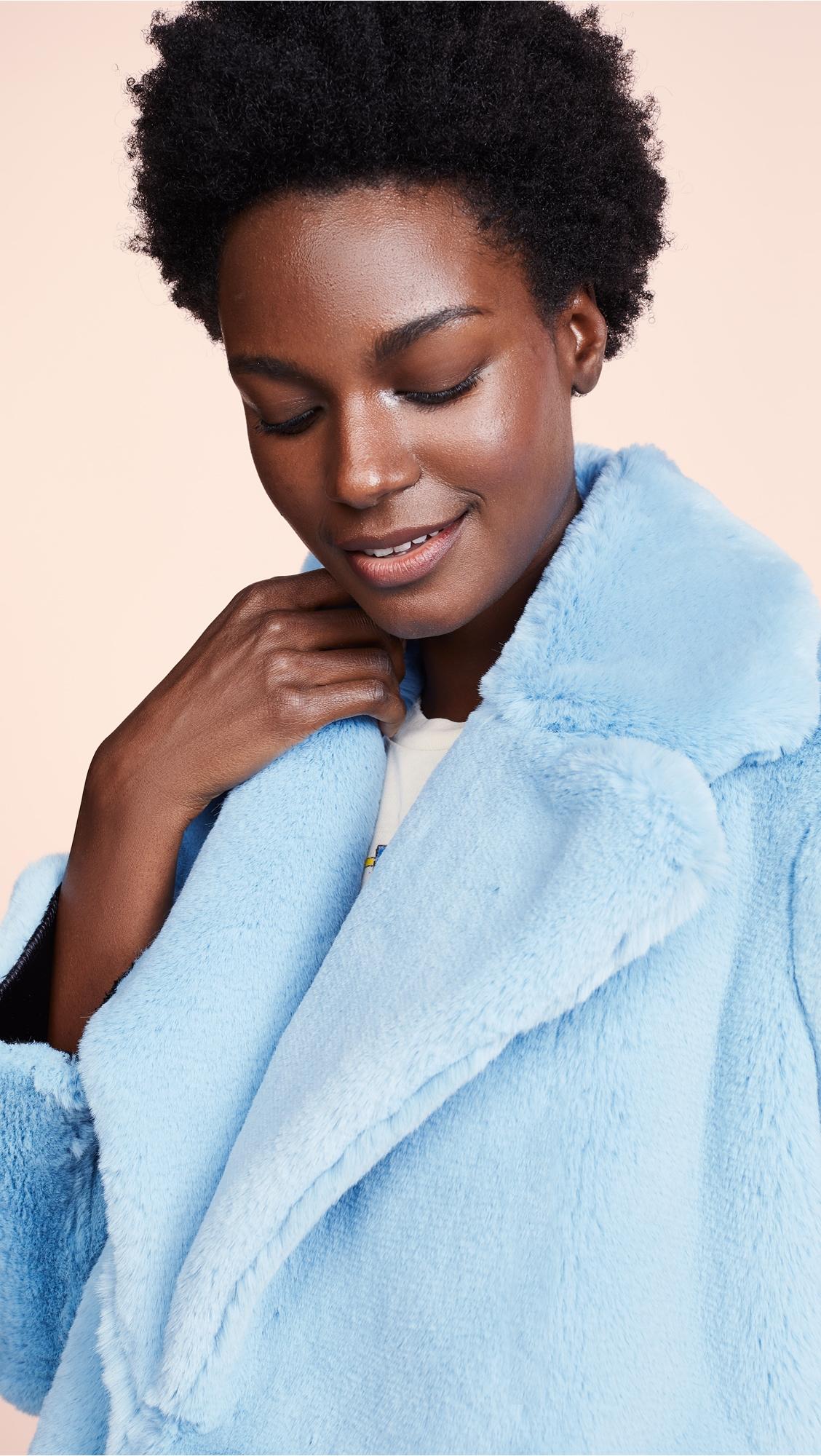 Diane Von Furstenberg | Diane von Furstenberg Fluffy Faux Fur Coat | Clouty