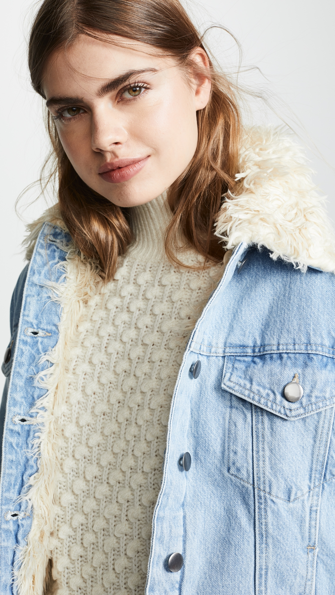Frame | FRAME Curly Faux Shearling Jacket | Clouty