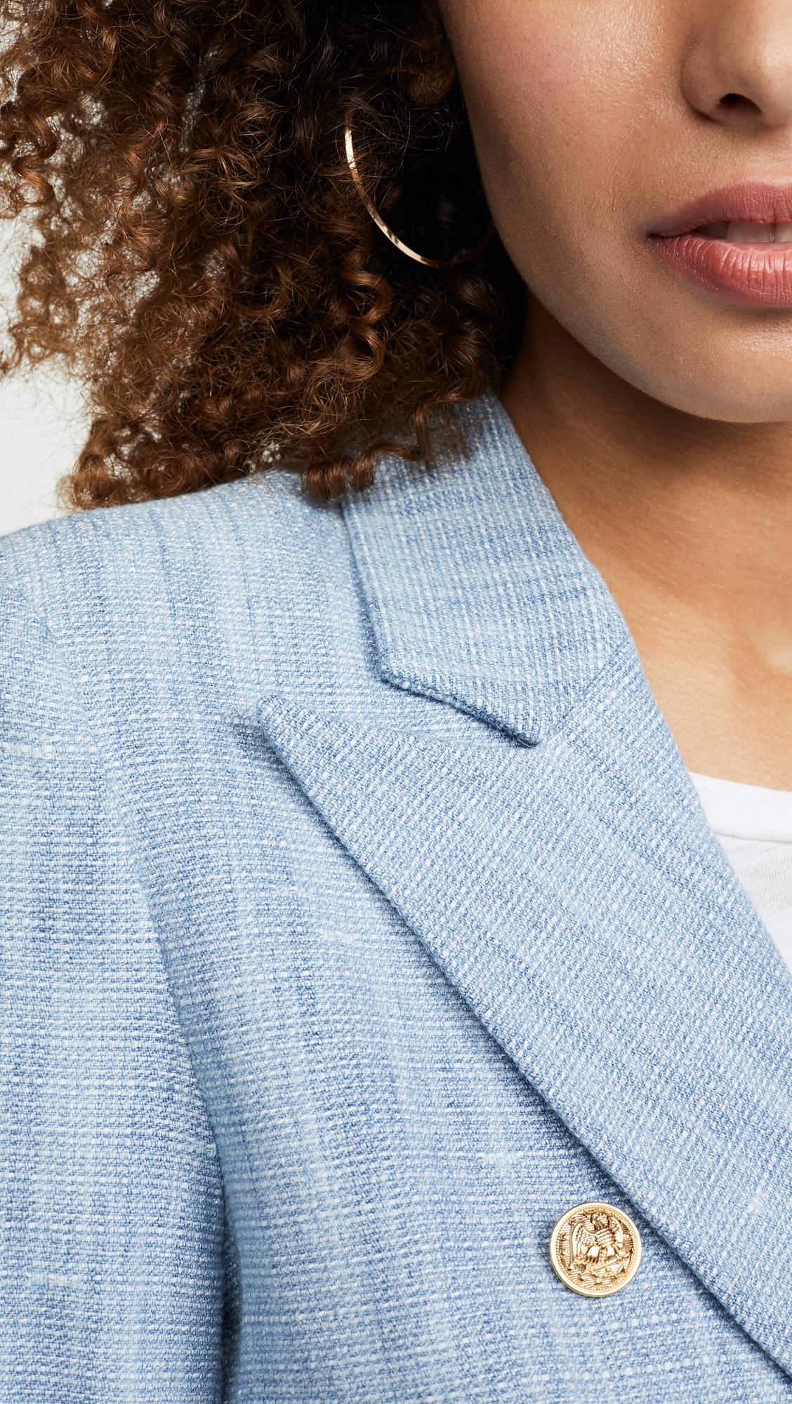Generation Love | Generation Love Adele Denim Tweed Blazer | Clouty