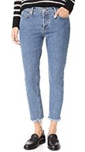 Фото Hudson Riley Luxe Crop Jeans with Raw Hem