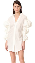 Фото Jacquemus Ruched Sleeve Shirtdress