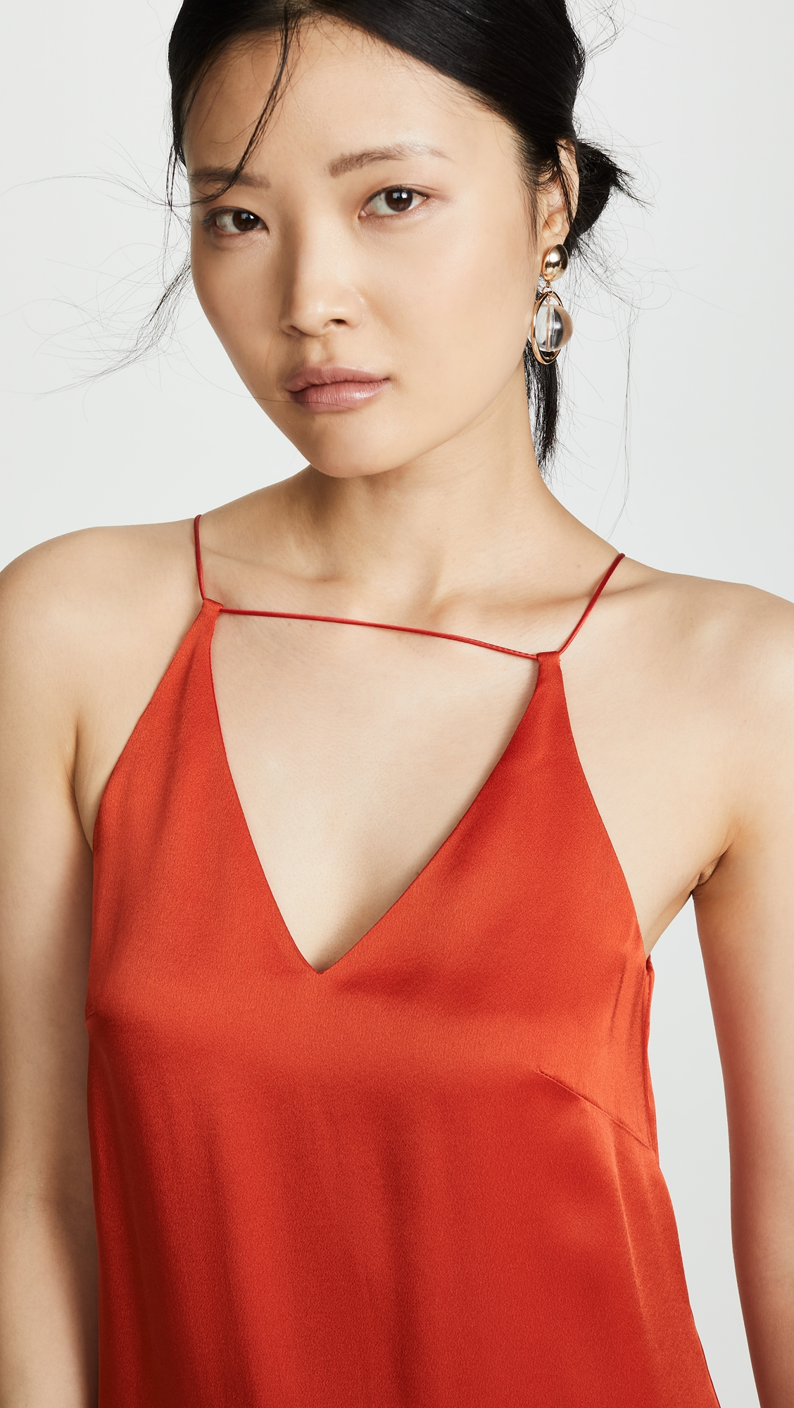 Rosetta Getty | Rosetta Getty Strap Front Slip Dress | Clouty