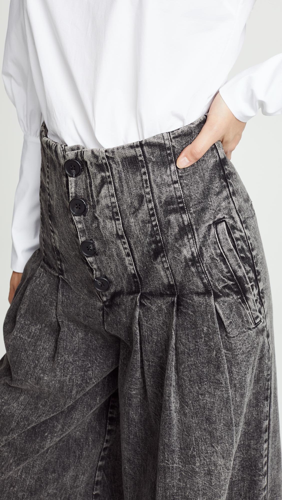 Sea New York | Sea Noir Denim High Waisted Corset Pants | Clouty