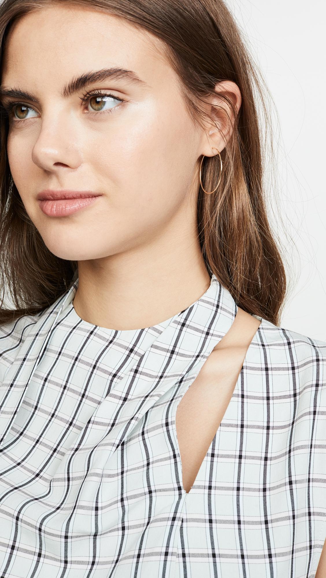 TIBI | Tibi Sleeveless Pleated Tie Top | Clouty