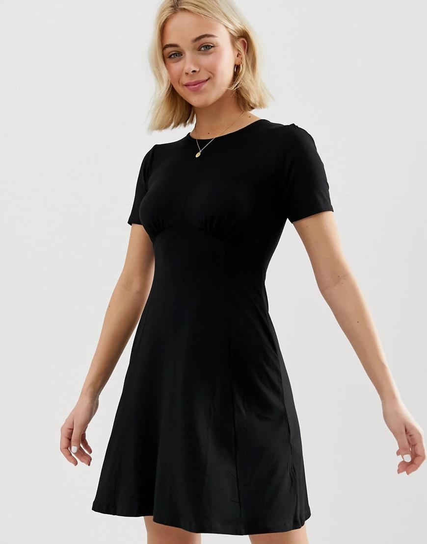 ASOS DESIGN | Чайное платье мини ASOS DESIGN-Черный | Clouty