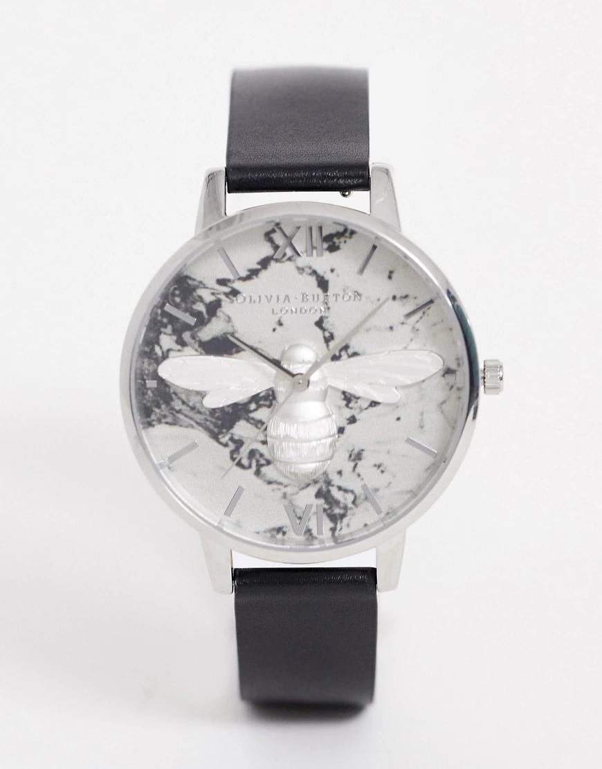 Olivia Burton | Часы с черным кожаным ремешком Olivia Burton Shoreditch-Чepный | Clouty