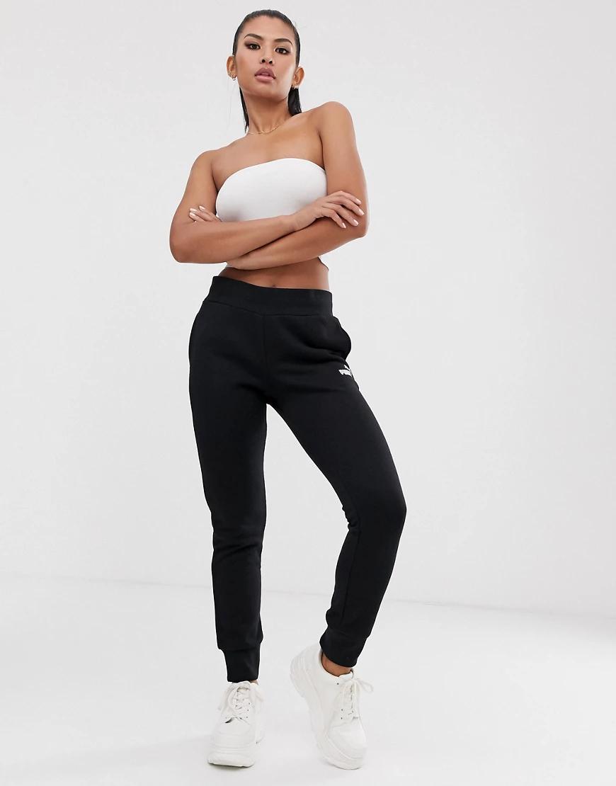 Puma   Черные трикотажные брюки Puma Essentials-Чepный   Clouty