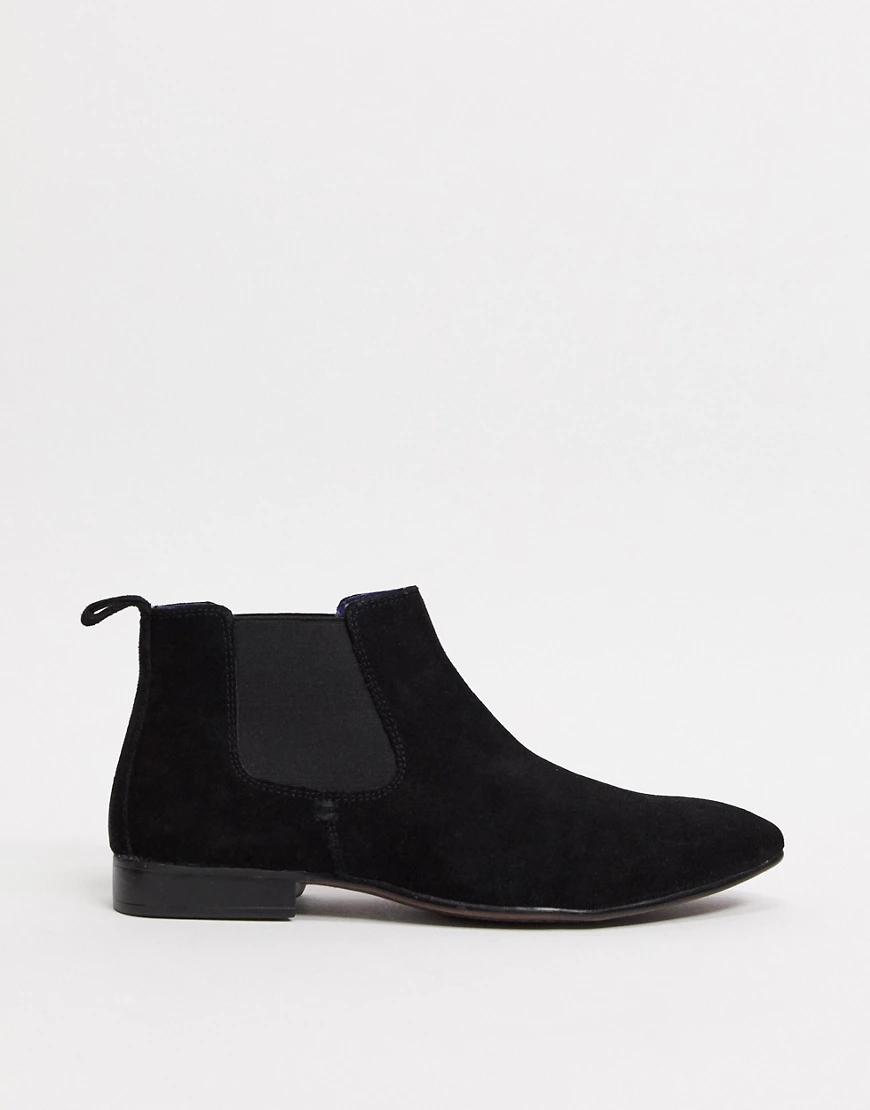 Silver Street | Черные замшевые ботинки челси Silver Street-Черный цвет | Clouty