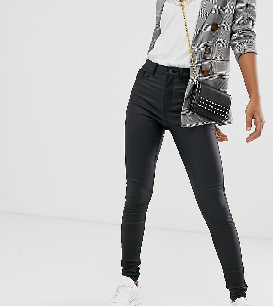 New Look | Черные джинсы с покрытием из искусственной кожи New Look Таll-Черный | Clouty