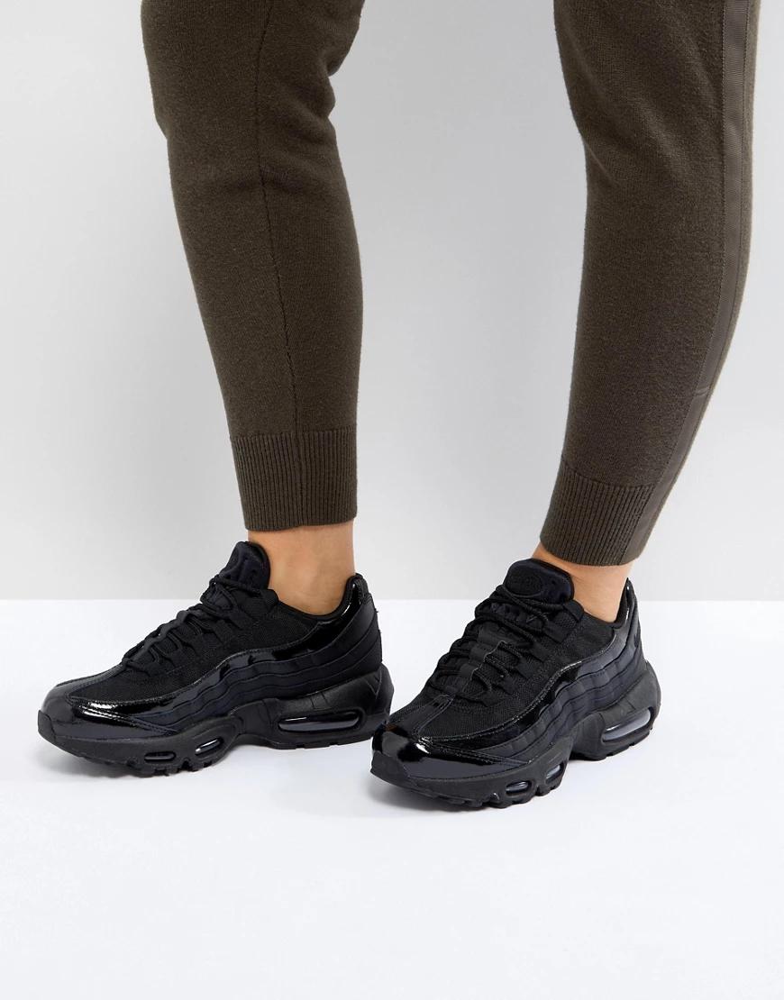 NIKE   Черные кроссовки Nike Air Max 95-Черный   Clouty