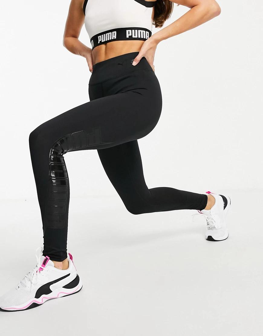 Puma | Черные леггинсы Puma Training First Мilе-Черный | Clouty
