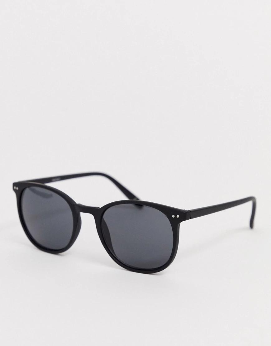 ASOS | Черные матовые квадратные солнцезащитные очки с дымчатыми стеклами ASOS DESIGN-Черный | Clouty