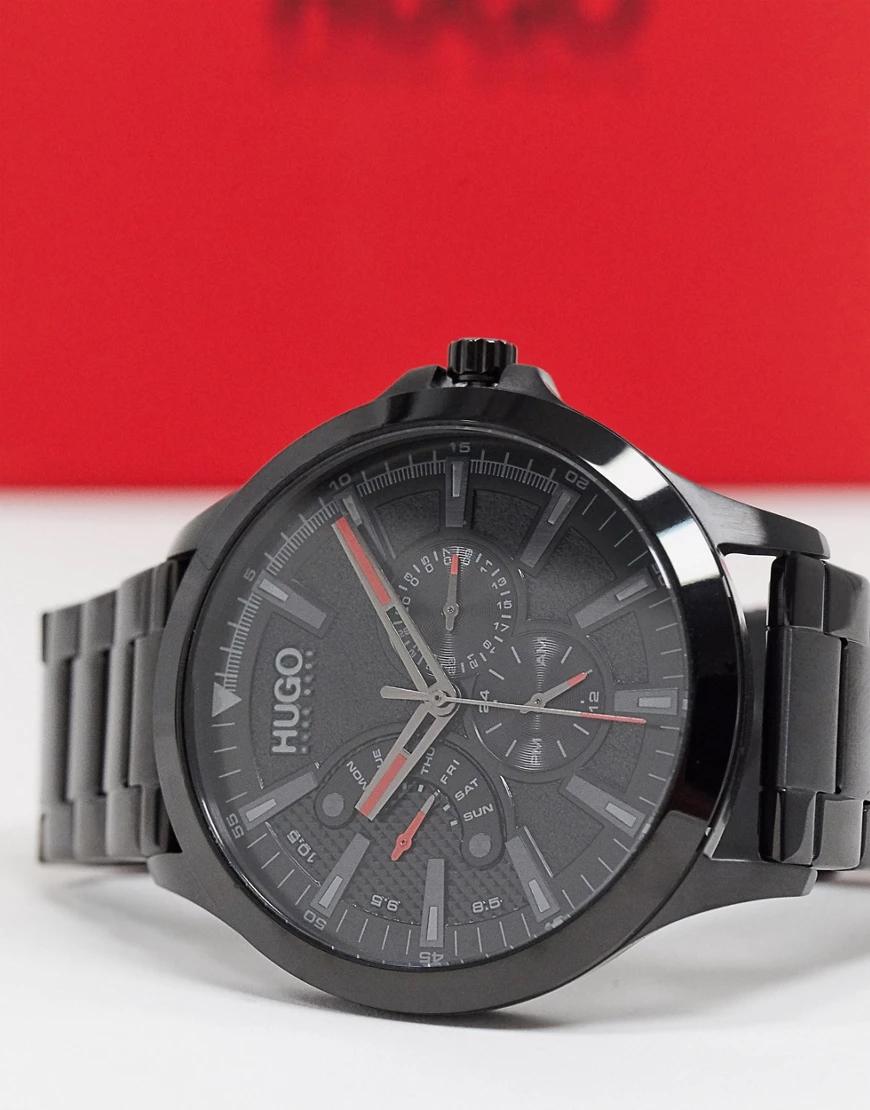 HUGO   Черные наручные часы HUGO leap 1530175-Черный   Clouty