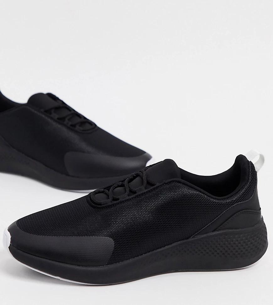 ASOS DESIGN | Черные сетчатые кроссовки для широкой стопы ASOS DESIGN-Черный цвет | Clouty