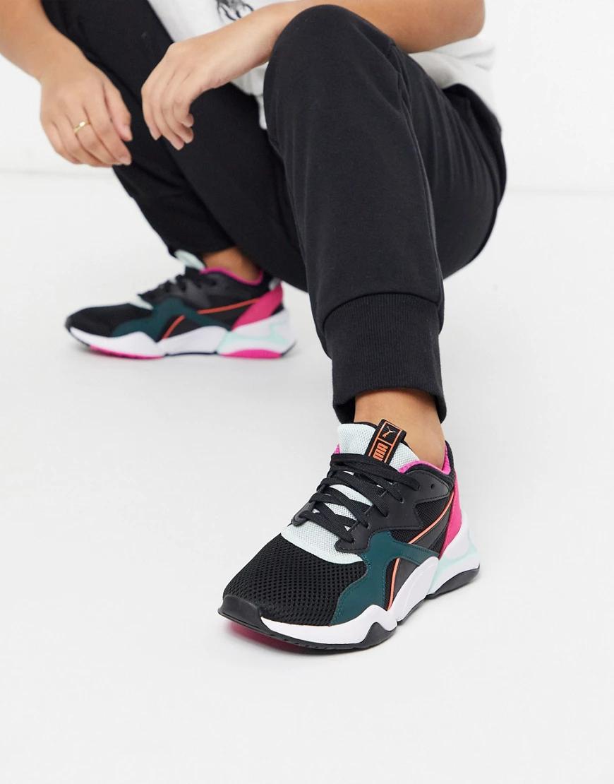 Puma | Черные сетчатые кроссовки Puma Nоvа-Черный | Clouty