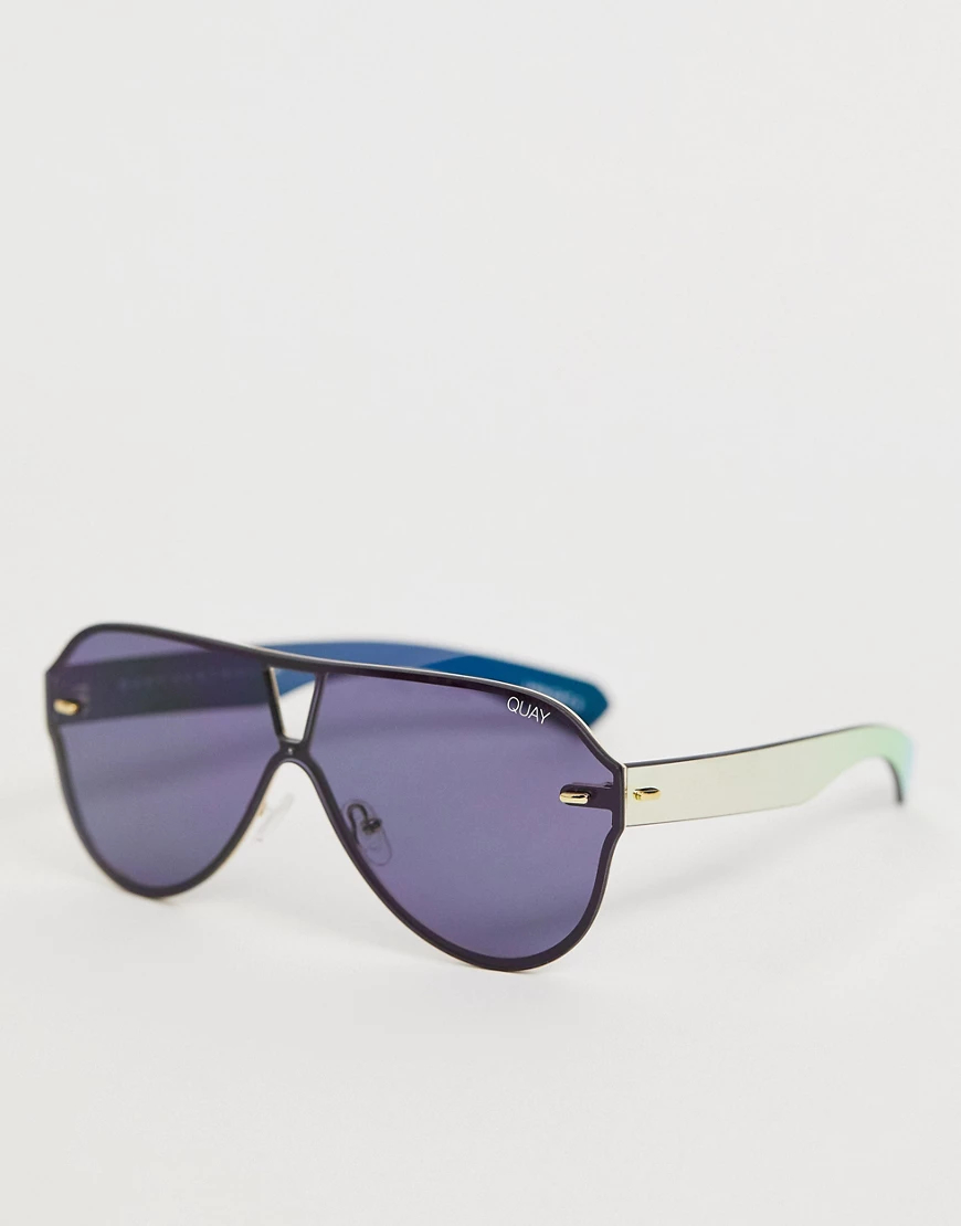 Quay Australia | Черные солнцезащитные очки-авиаторы Quay Australia Stay Afloat-Черный | Clouty