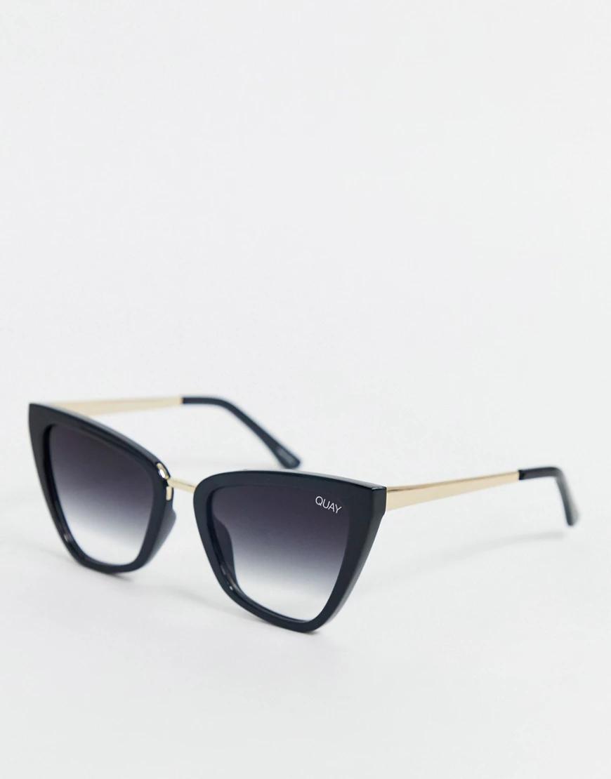 """Quay Australia   Черные солнцезащитные очки """"кошачий глаз"""" Quay Australia x J Lo Rеiпа-Черный   Clouty"""