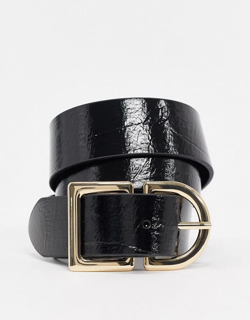 TOPSHOP | Черный ремень для джинсов из искусственной кожи Topshop | Clouty