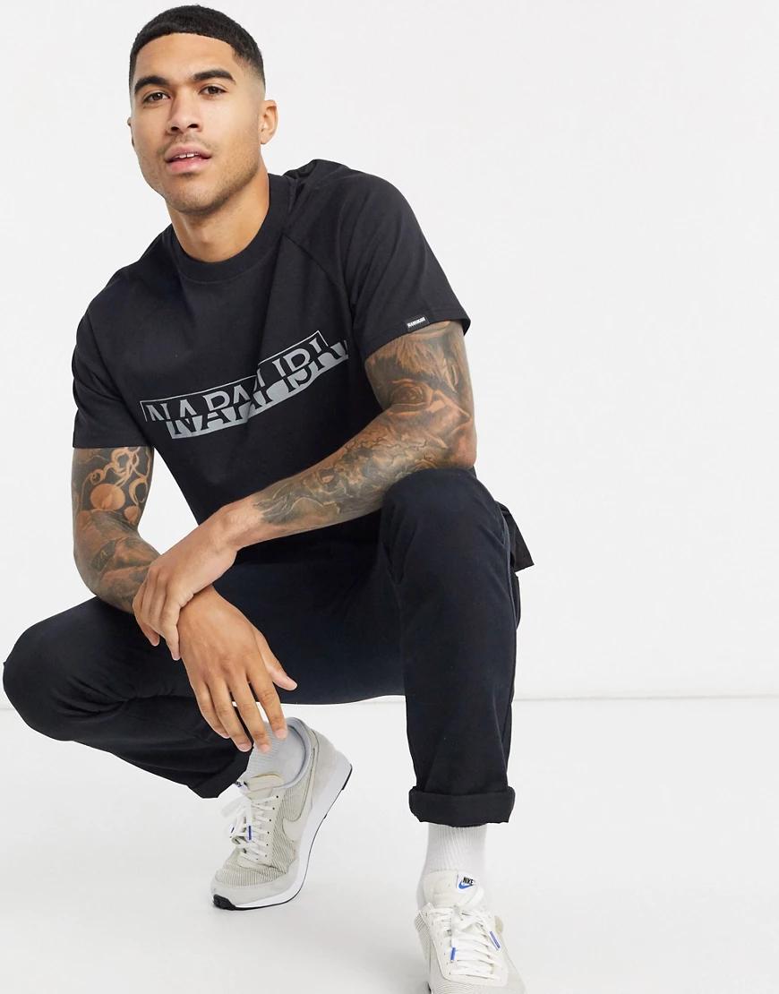 Napapijri | Черная футболка Napapijri-Чepный | Clouty