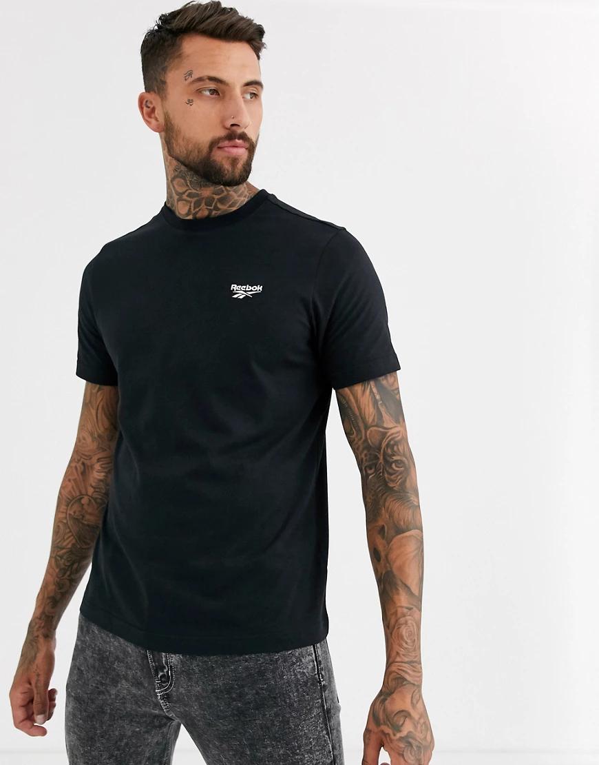 REEBOK | Черная футболка с логотипом Reebok-Черный | Clouty