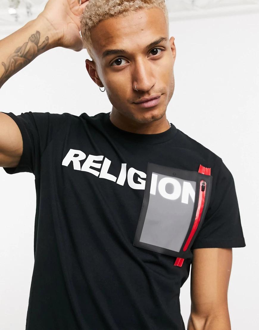 Religion | Черная футболка с логотипом Religion-Чepный | Clouty
