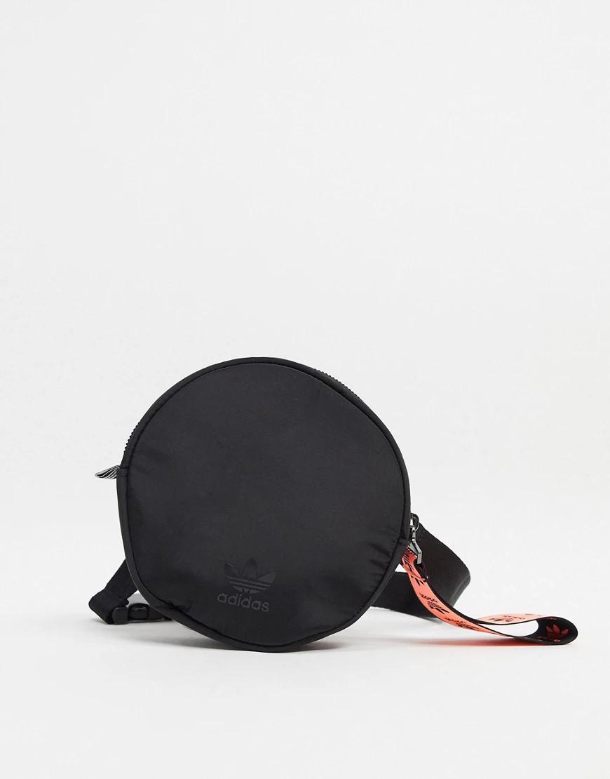 adidas Originals | Черная круглая сумка adidas Originals-Чepный | Clouty