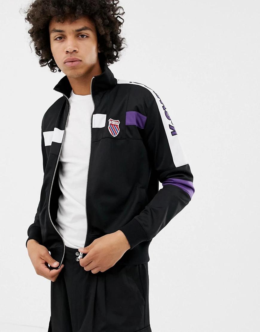 K-Swiss | Черная спортивная куртка K-Swiss Oakland-Чepный | Clouty
