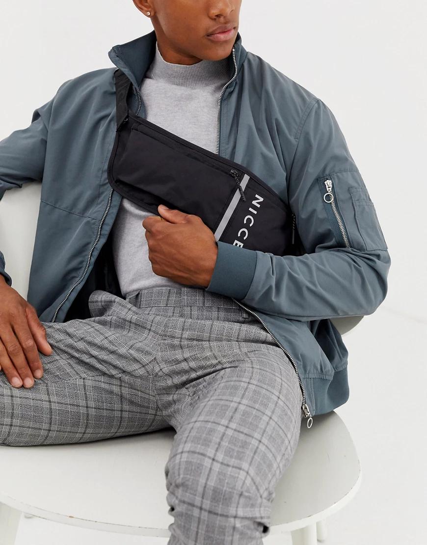 Nicce | Черная сумка через плечо Niссе-Черный | Clouty
