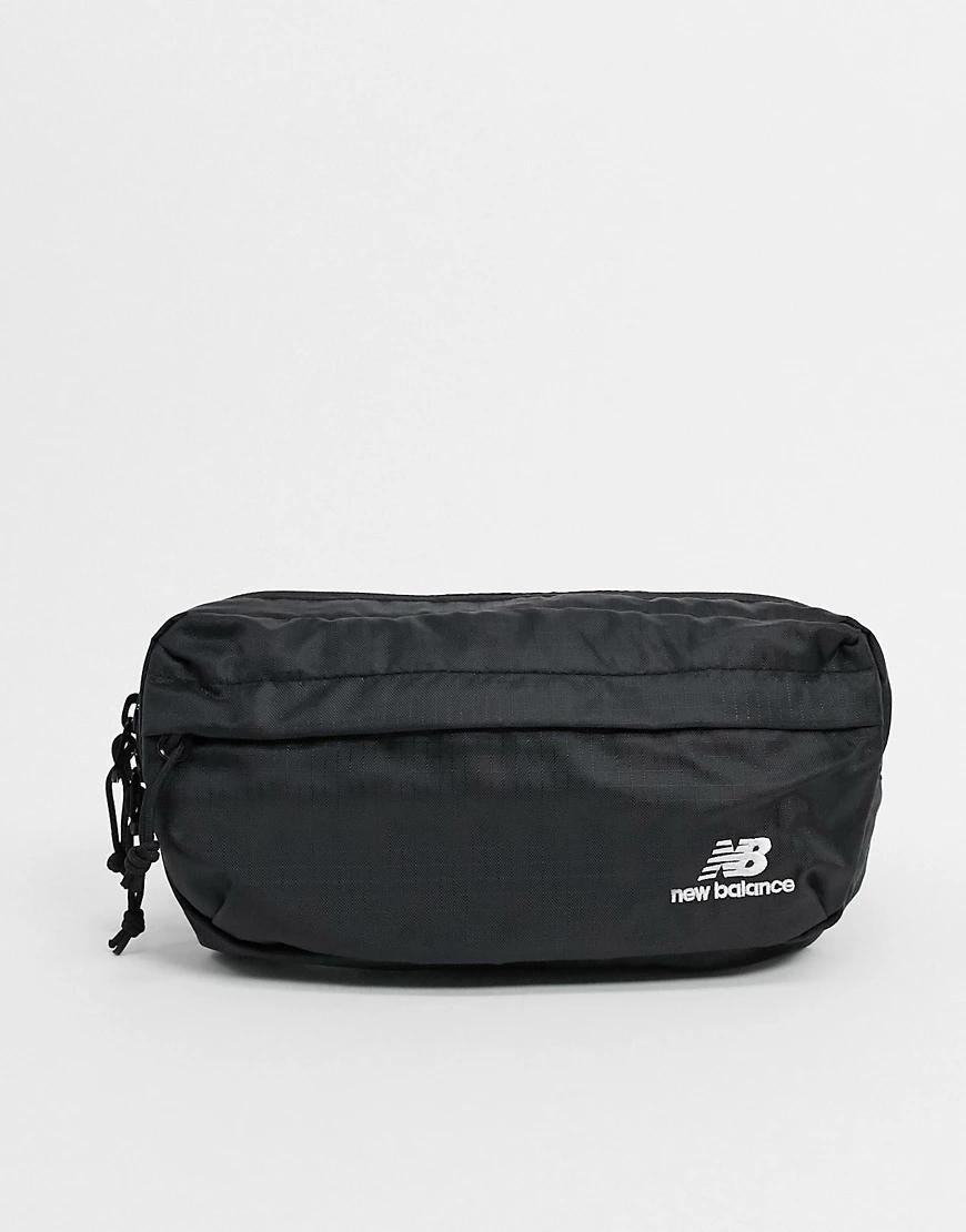 New Balance | Черная сумка-кошелек на пояс с логотипом New Balance-Чepный | Clouty