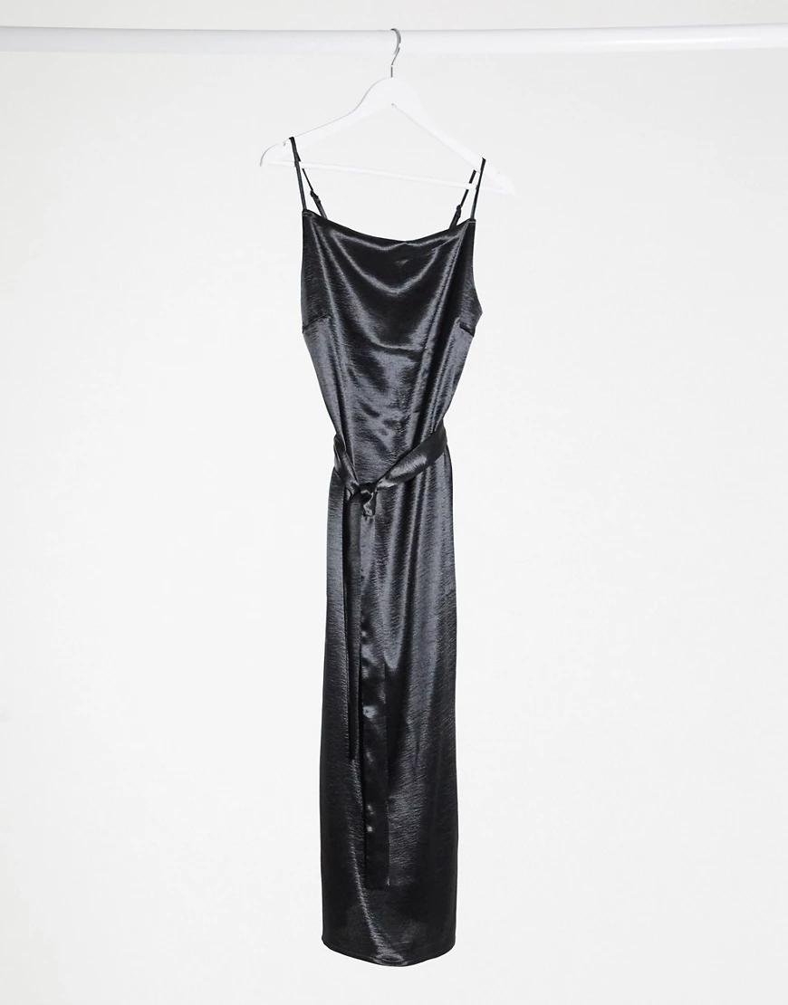 Y.A.S. | Черное платье миди с квадратным вырезом Y.А.S-Черный | Clouty