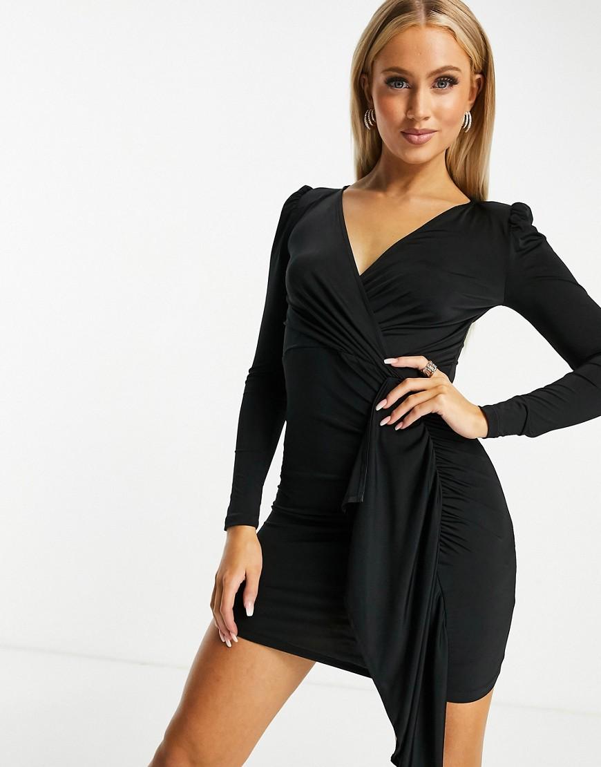 Ivyrevel | Черное платье с драпировкой спереди Ivy Rеvеl-Черный | Clouty