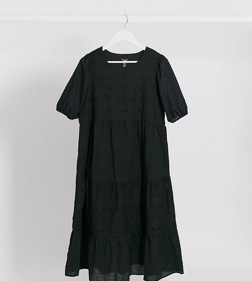 New Look | Черное платьемидаксис вышивкой ришелье New Look Maternity-Чepный | Clouty