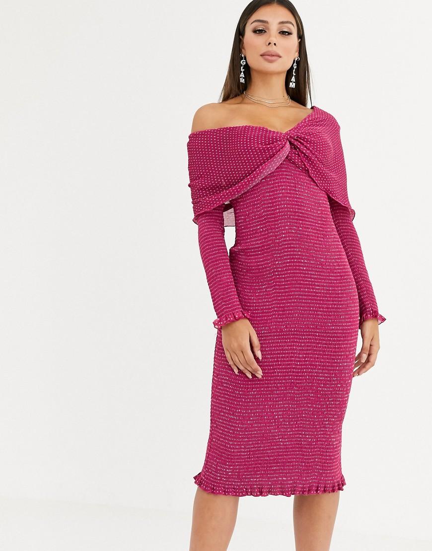 Talulah | Асимметричное платье миди Talulah-Розовый | Clouty